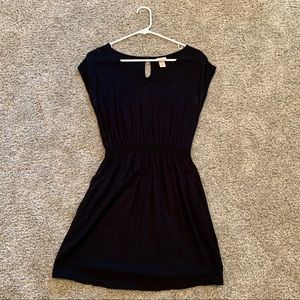 Mossimo Black Cinched Waist Dress